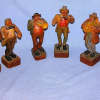 Vintage Anri Wood Carved Musician Figures